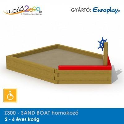 SAND BOAT homokozó - akadálymentesített