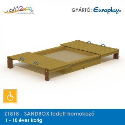 SANDBOX fedett homokozó - akadálymentesített