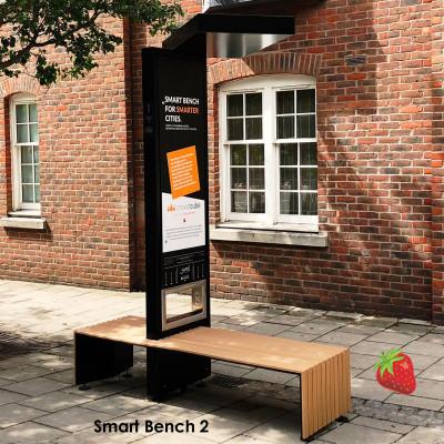 Smart Bench 2 - ideális régi padok cseréjéhez, nagy forgalmú helyeken. pl.: sétáló utcák, városok utcáin ahol sok üzlet található.