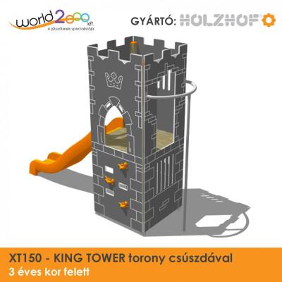 KING TOWER torony csúszdával