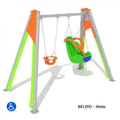 R4139D - Hinta, az akdálymentesített ülés összecsukható merev hevederrel bitosítva.