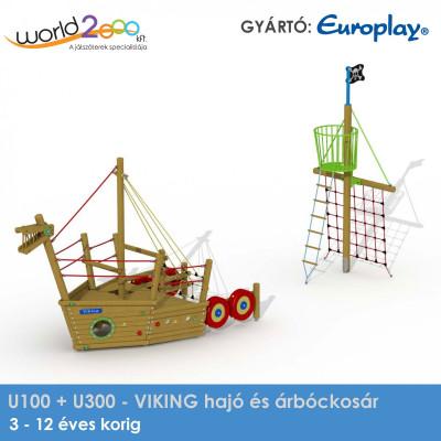 Viking hajó és mászóháló