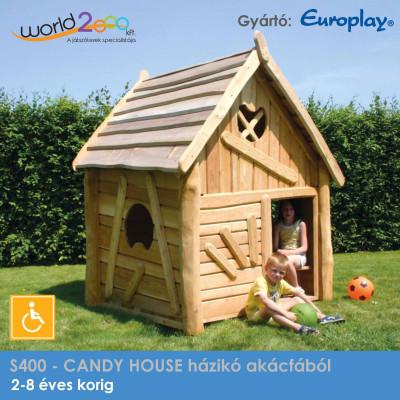 CANDY HOUSE házikó akácfából - akadálymentesített