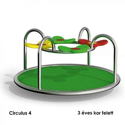 Circulus 4 - Körhinta: teljes egészében rozsdamentes acélból, csúszásmentes EPDM gumi granulátummal.