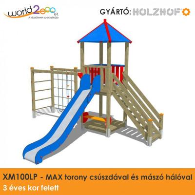 MAX torony csúszdával és mászóhálóval