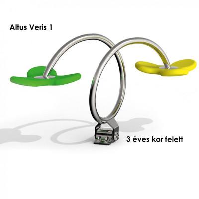 Altus-Veris 1- az érintkező felületek kiváló minőségű puha gumiból készülnek, összekötő elemek tartós rozsdamentes acélból. Kiváló formatervezés