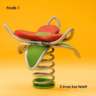 Frodis 1 -A virág ülés lágy gumiból készül, a levelek kiváló minőségű EPDM gumi-granulátumból készülnek, az összekötő elemek tartós rozsdamentes acélból.