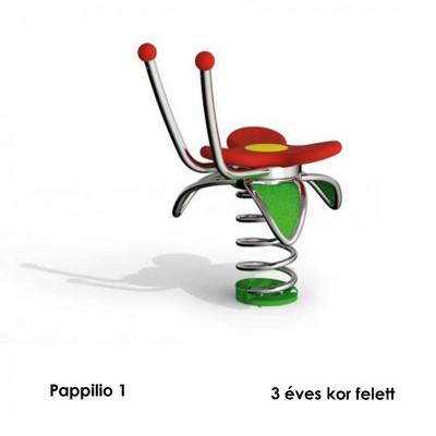 Pappilo 1 - az érintkező felületek kiváló minőségű puha gumiból készülnek, összekötő elemek tartós rozsdamentes acélból.