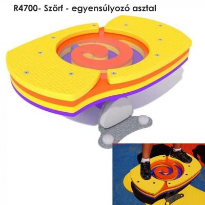 R4700- Szörf - egyensúlyozó asztal. Egyensúlyozva, a fotón látható kis golyót kell eljuttatni a kezdőponttól a végpontba, vagy csak folyamatosan szabadon vetni a golyót, hogy ne álljon meg.