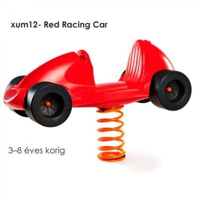 XUM12 Red Racing Car polietilén rugós hinta. választható: kék és piros színben