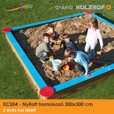 Nyitott homokozó 300x300 cm