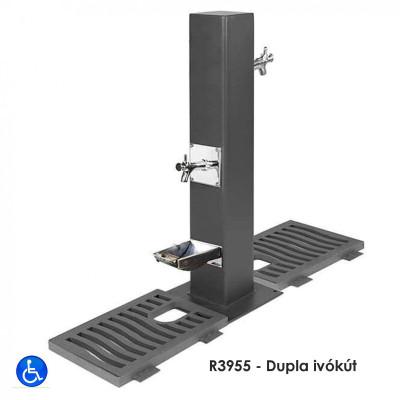 R3955 - Dupla ivókút, Öntöttvasból speciális korrózióvédelemmel.