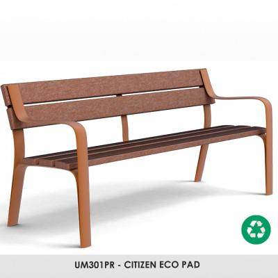 UM301PR - CITIZEN ECO pad. Újrahasznosított műanyagból készült,amely szintén újrahasznosítható. Nincs szükség karbantartásra. Ez az anyag nem reped, reped, rothad és nem szárad ki. Rossz időjárási viszonyoknak nagyon ellenálló