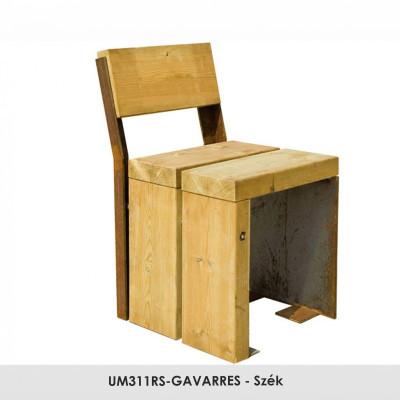 UM311RS-GAVARRES - szék fenyőfából.