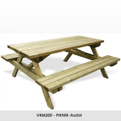 VRM200 - PIKNIK-Asztal 1940 x 95 x 45 mm-es  fenyőfa deszkából.