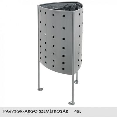 PA693GR -Argo - szemetes magas korrózióvédelemmel, stabil erős szerkezet, 45L