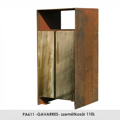PA611 -GAVARRES- szemétkosár 110L , ez a szemétkosár egy család része, amely különböző kültérii bútorokat (szék, piknik asztal és padok) tartalmaz GAVARRES néven.