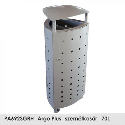 PA692SGRH -Argo Plus- szemetes magas korrózióvédelemmel, stabil erős szerkezet, 70L , oldalról nyitható,